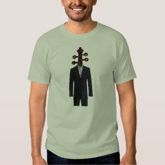 Cabeza surrealista del violín remeras