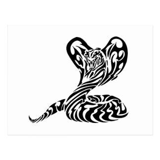 Cabeza tribal Cobra.png del tigre Postales