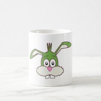 Cabeza verde del conejo taza clásica