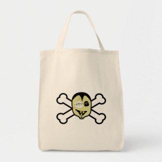 cabeza y bandera pirata del zombi bolsa de mano