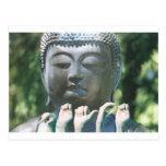 Cabeza y paz ASL de Buda Tarjetas Postales
