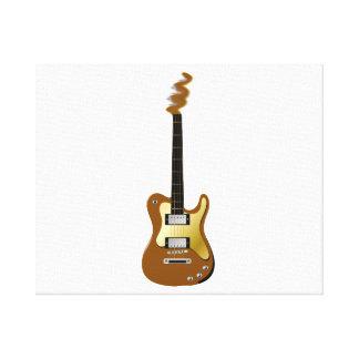 Cabezal del fizzle de la guitarra eléctrica del or lona envuelta para galerías