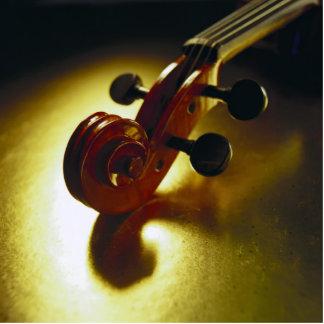 Cabezal del violín fotoescultura vertical