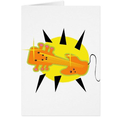 cabezal híbrido de la guitarra encima de orange.pn tarjetas