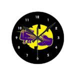 cabezal híbrido de la guitarra encima de purple.pn relojes