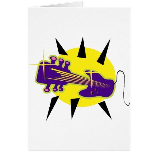 cabezal híbrido de la guitarra encima de purple.pn tarjeton