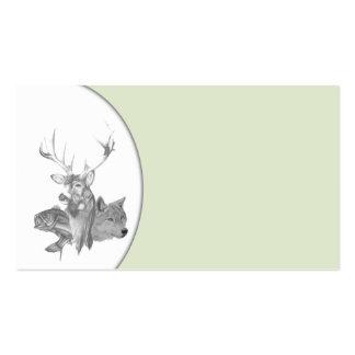 Cabezas animales tarjetas de visita