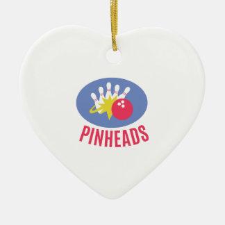Cabezas de alfiler adorno de cerámica en forma de corazón