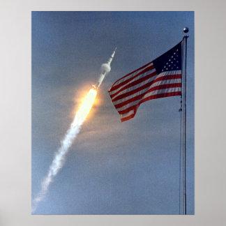 Cabezas de Apolo 11 para la luna Póster