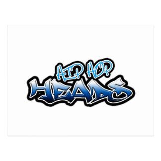 Cabezas de Hip Hop Tarjeta Postal