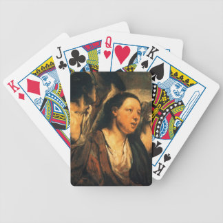 Cabezas de Jacob Jordaens-Two y torso femeninos de Cartas De Juego