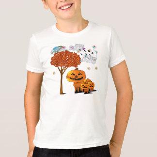 Cabezas de la calabaza de Halloween - camiseta Playera