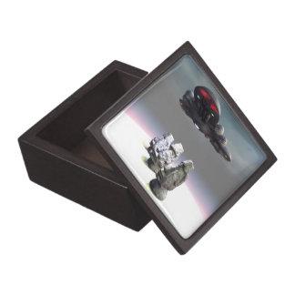 Cabezas de la isla de pascua y caja de regalo supe caja de joyas de calidad