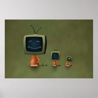 Cabezas de la TV Póster