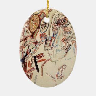 Cabezas de Pavel Filonov- Ornamento De Navidad