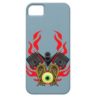 Cabezas de pistón de V8 que vuelan el ojo iPhone 5 Case-Mate Carcasas