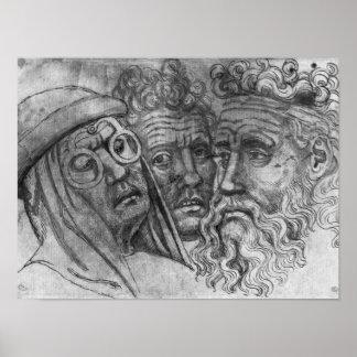 Cabezas de tres hombres, el álbum de Vallardi Póster
