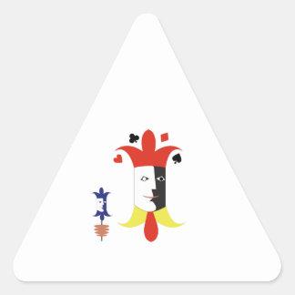 Cabezas del comodín pegatina triangular