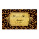 Cabezas del leopardo del oro del estampado leopard tarjetas de negocios