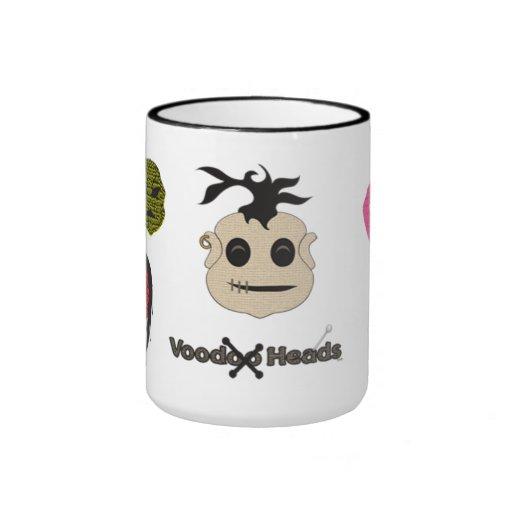 Cabezas del vudú taza de café