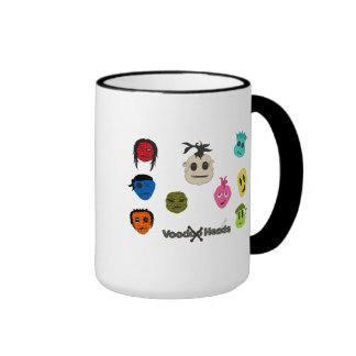 Cabezas del vudú taza de dos colores