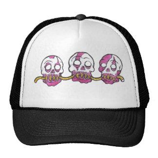 Cabezas del zombi dibujadas juntas gorras de camionero