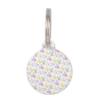 Cabezas en colores pastel del conejito de pascua placas de mascota