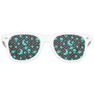 Cabezas extranjeras azules de la aguamarina lentes de sol
