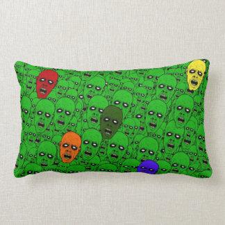 Cabezas hambrientas del zombi de los Undead Cojín