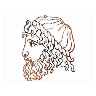 Cabezas romanas postal