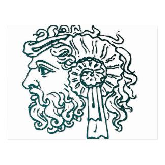 Cabezas romanas tarjeta postal