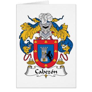 Cabezon Family Crest Card