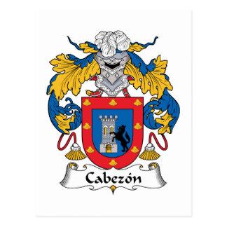 Cabezon Family Crest Postcard