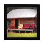 Cabin Adirondack Chairs Trinket Boxes