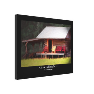 Cabin Adirondacks Black Border Canvas Print