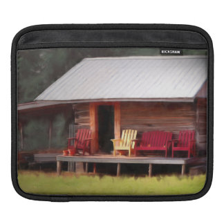 Cabin Adirondacks ipad Sleeve