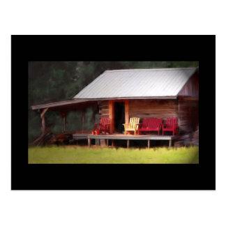Cabin Adirondacks Postcard