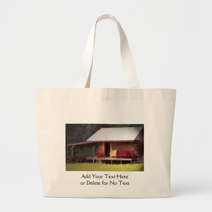 Cabin Adirondacks Text Bag