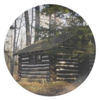 Cabin at the Pa Grand Canyon -Leonard Harrison Pk Melamine Plate