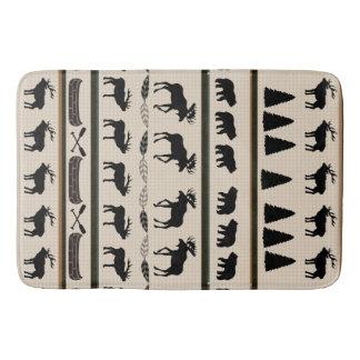 Cabin Blanket Design by Leslie Harlow Bathroom Mat