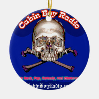 Cabin Boy Radio Ceramic Ornament