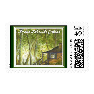 Cabin by the Lake #2 Postage Stamp