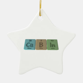 Cabin-Ca-B-In-Calcium-Boron-Indium.png Ceramic Ornament