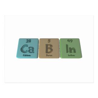 Cabin-Ca-B-In-Calcium-Boron-Indium.png Postcard