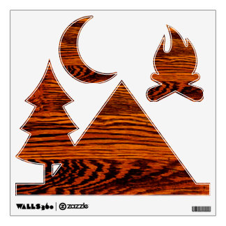 Cabin Camping Wood-Look Wall Decals