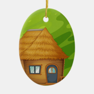Cabin Ceramic Ornament