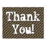 "[ Thumbnail: Cabin Chic ""Thank You!"" Postcard ]"