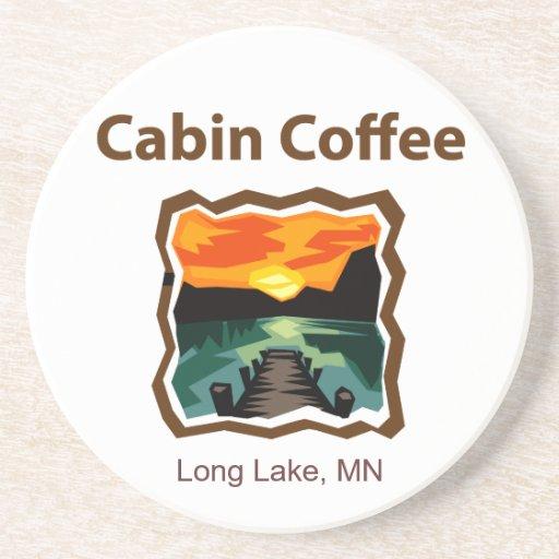 Cabin Coffee Coaster