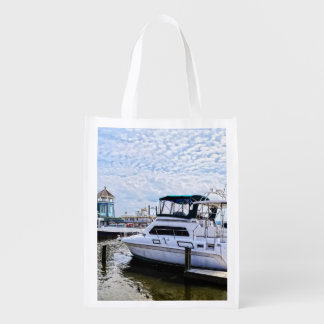 Cabin Cruisers by Founders Park Alexandria VA Grocery Bags