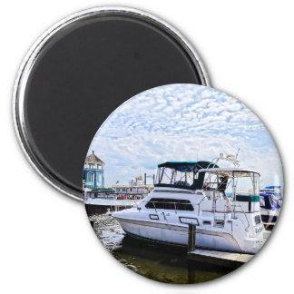 Cabin Cruisers by Founders Park Alexandria VA Fridge Magnet